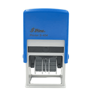 Shiny Self-inking dater approved s404