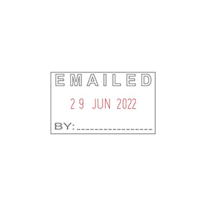 Shiny Date Stamp Emailed S410 7